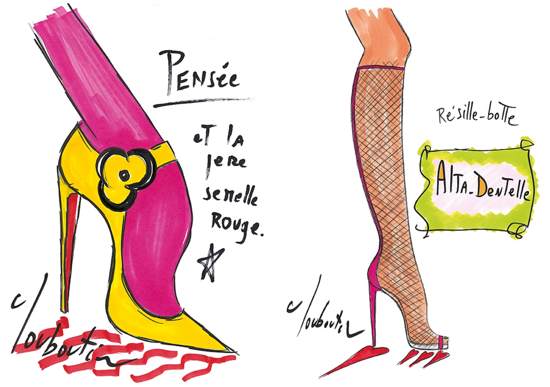 Christian Louboutin's Illustrated Artistry