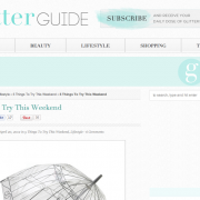 The Glitter Guide: 5 Things to Try This Weekend (April 2012)