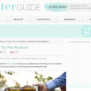 The Glitter Guide: 5 Things to Try This Weekend (June 2012)