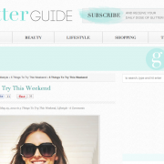 The Glitter Guide: 5 Things to Try This Weekend (May 2012)