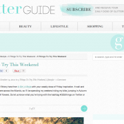 The Glitter Guide: 5 Things to Try This Weekend (October 2012)