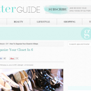The Glitter Guide: 6 Steps to an Organised Closet (February 2012)