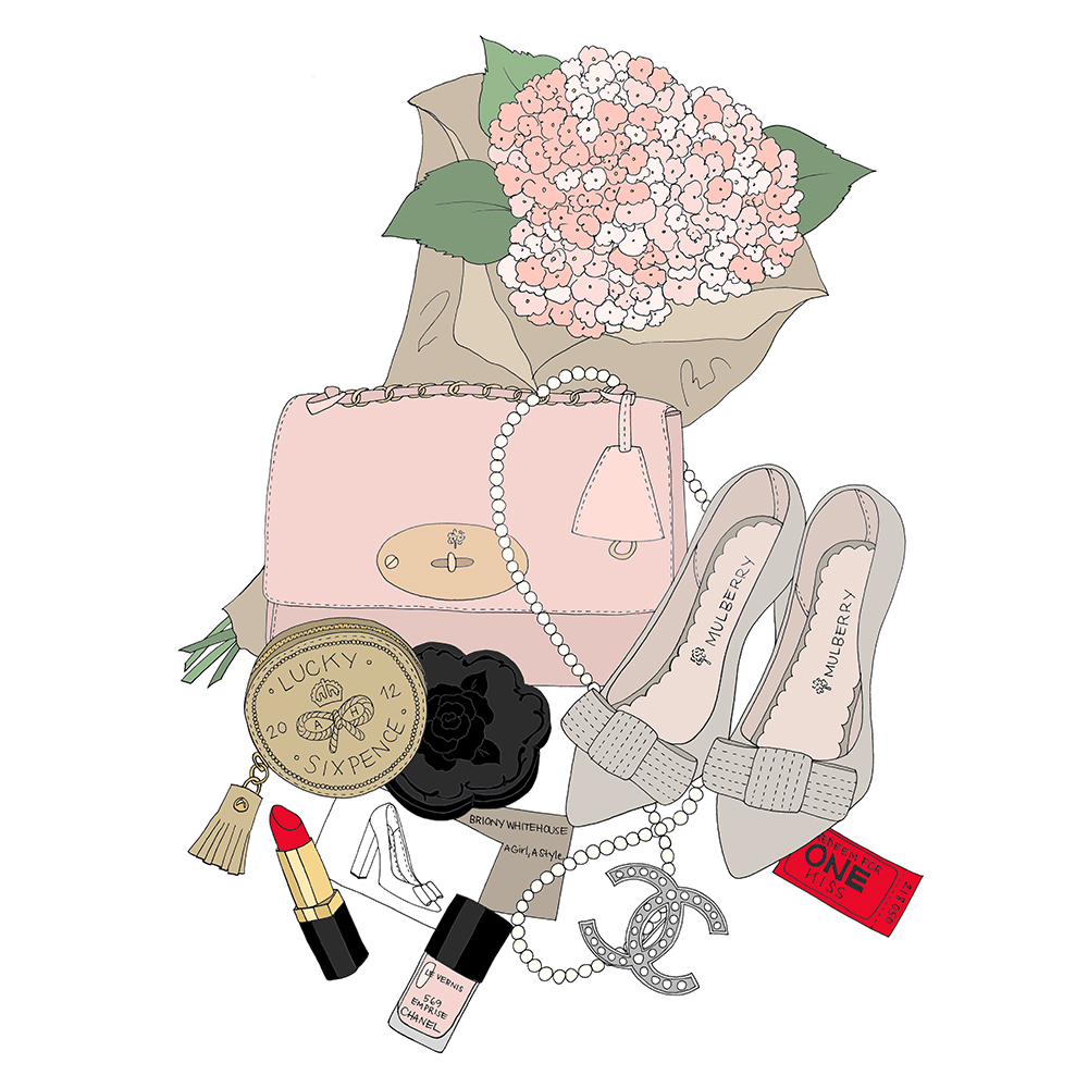 Chanel Bag Illustration Inside my Bag Illustrated