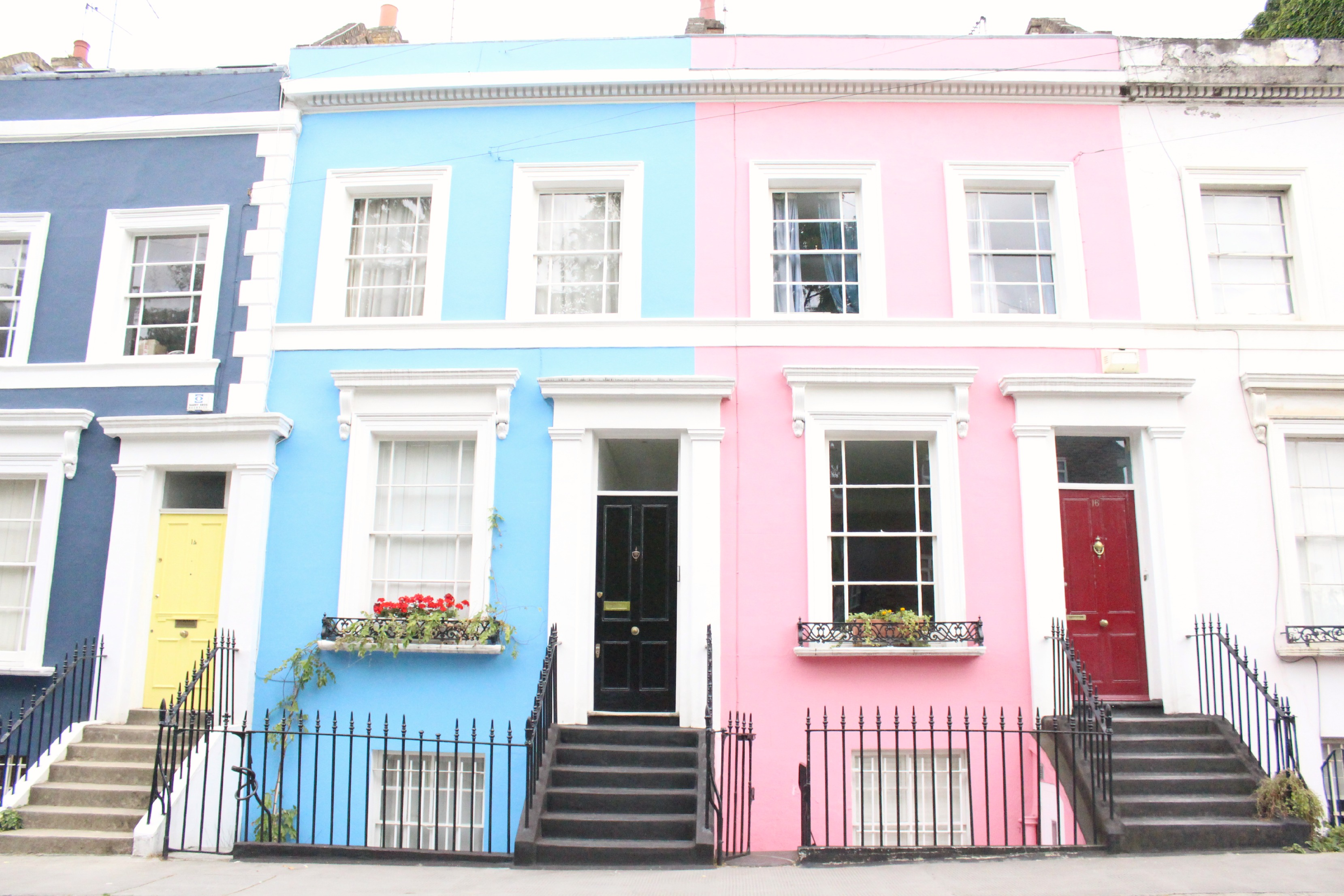 A girl a style pastel streets in notting hill for House notting hill