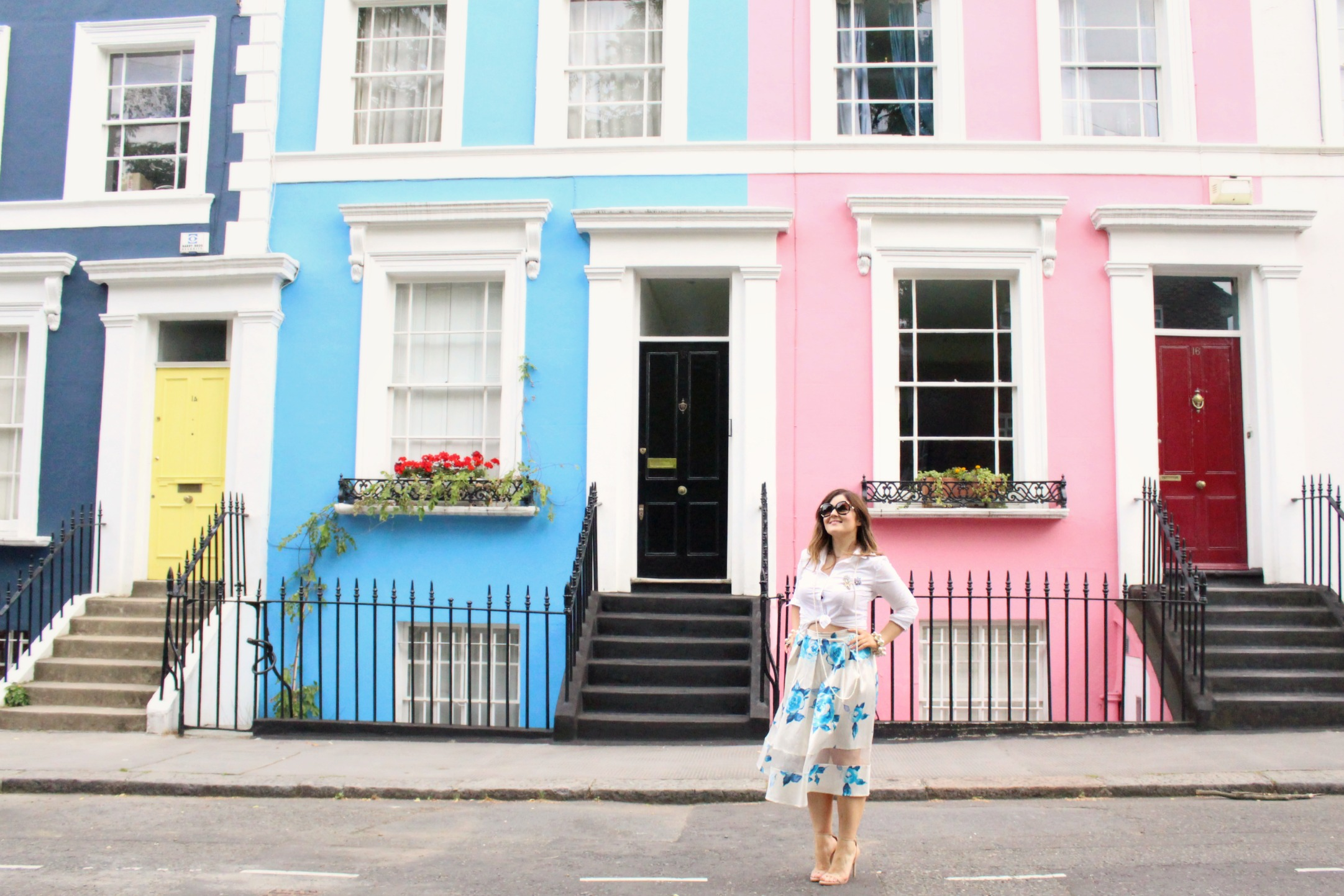 On the Pastel Streets of Notting Hill