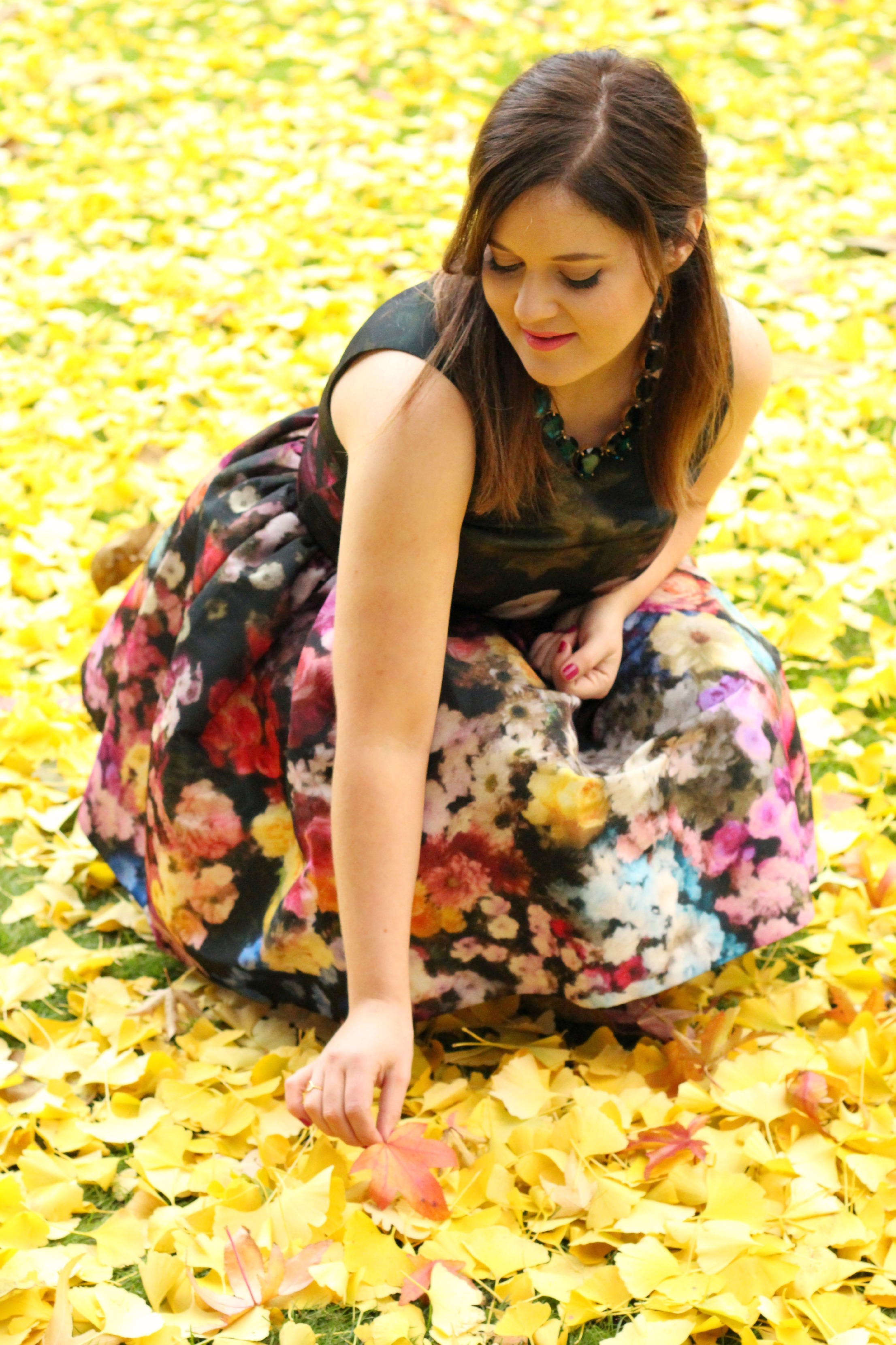 A Girl, A Style _ Valentino Dresses & Autumn Leaves 6