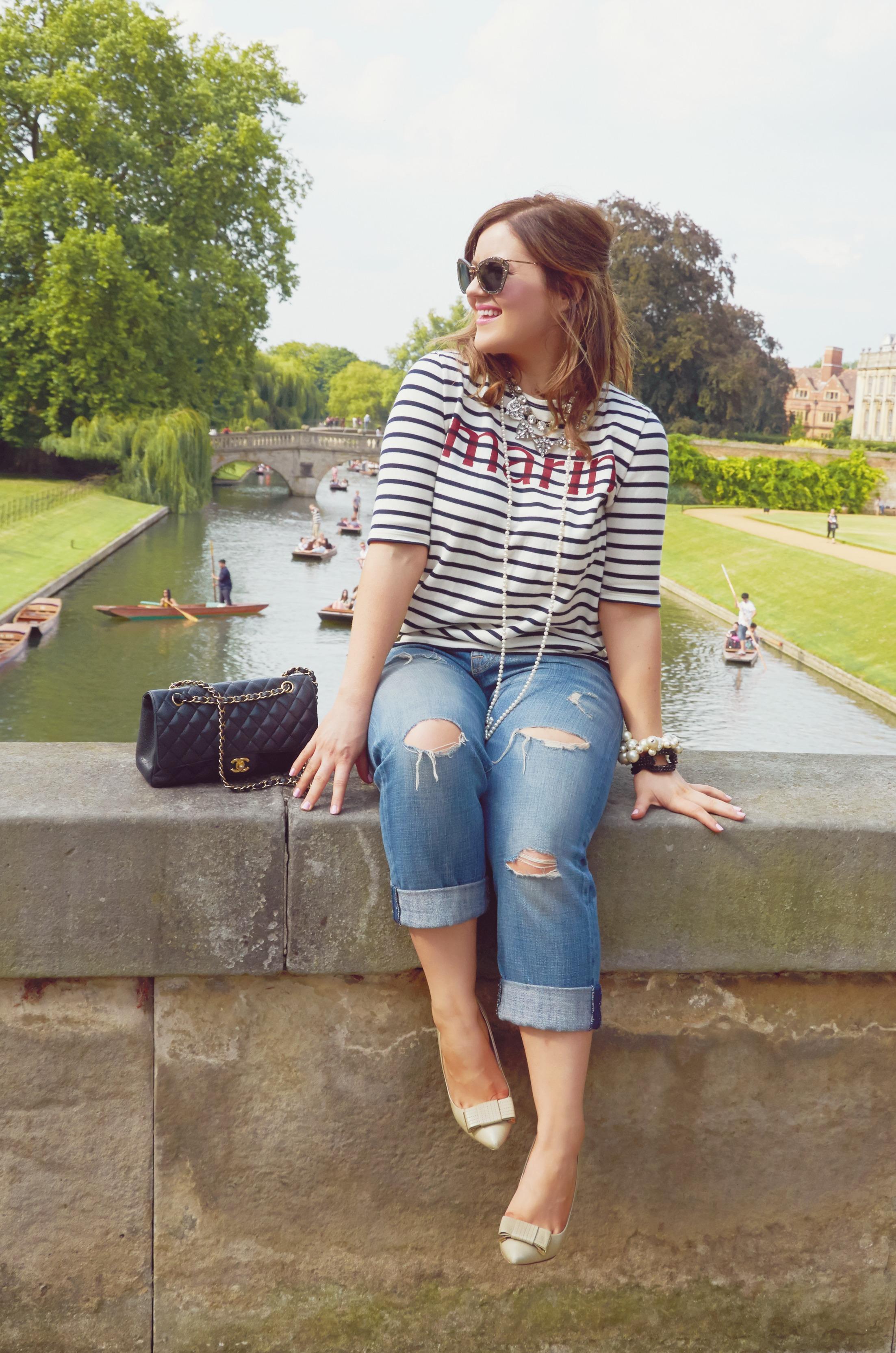 A Girl, A Style _ Breton Stripes + Boyfriend Jeans 4