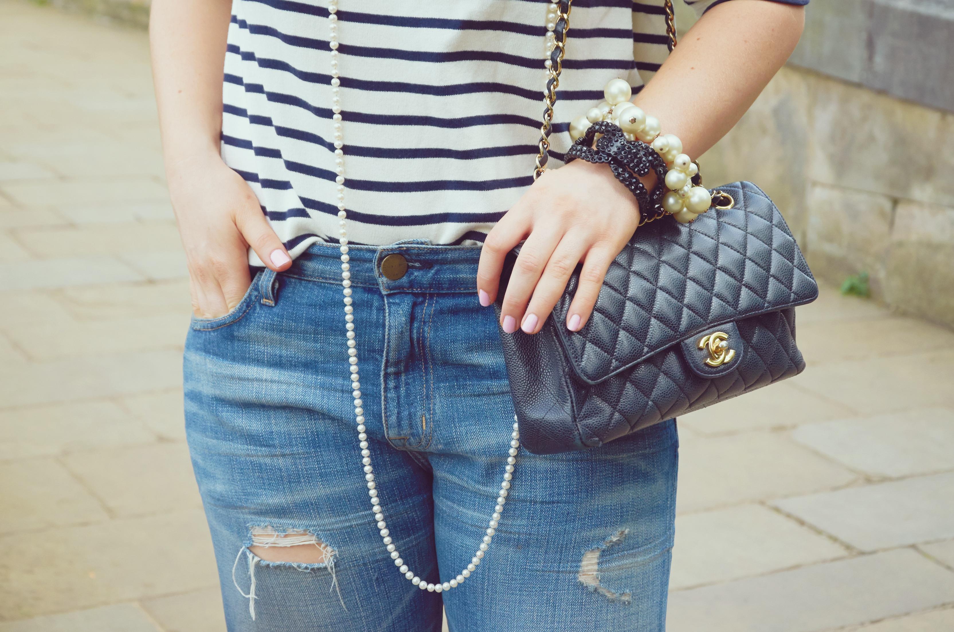 A Girl, A Style _ Breton Stripes + Boyfriend Jeans 5
