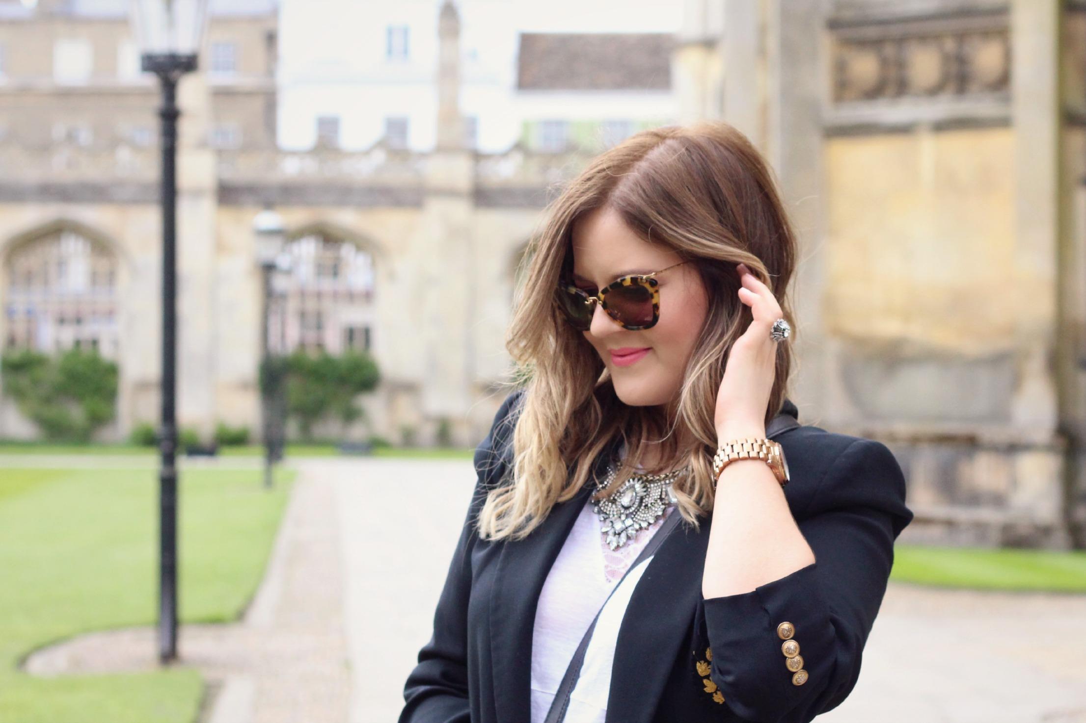 A Girl, A Style _ Miu Miu Tortoishell Sunglasses