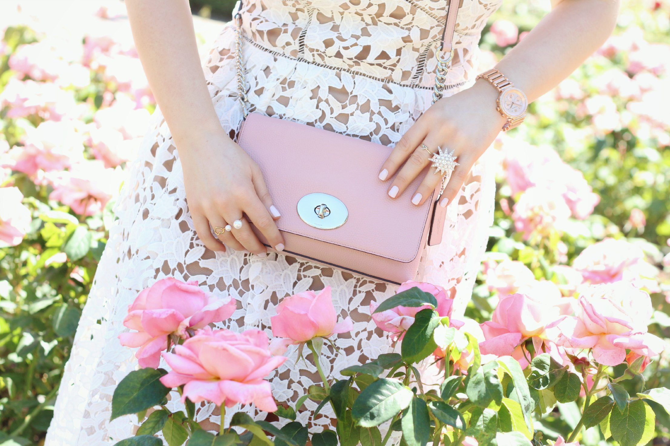 A Girl, A Style _ Coach Blush Pink Crosstown Bag