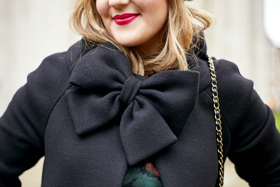 A Girl, A Style _ Kate Spade Bow Coat