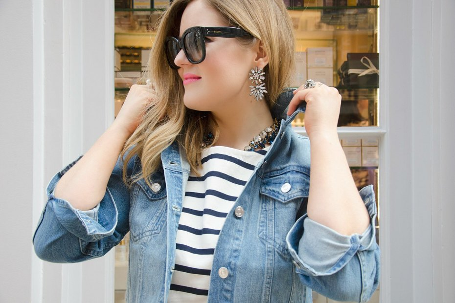 A Girl, A Style _ J.Crew Denim Jacket