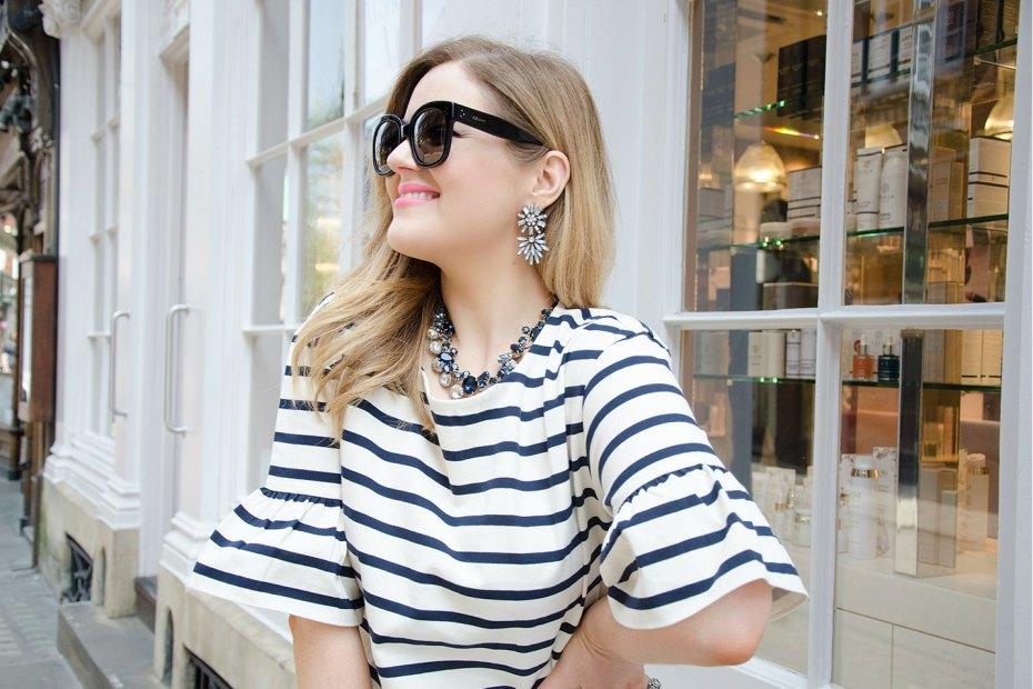 A Girl, A Style _ J.Crew Ruffle Stripe Top