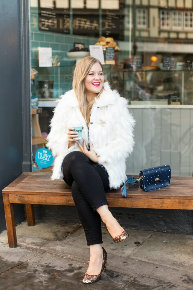 A Girl, A Style _ The White Fur Jacket