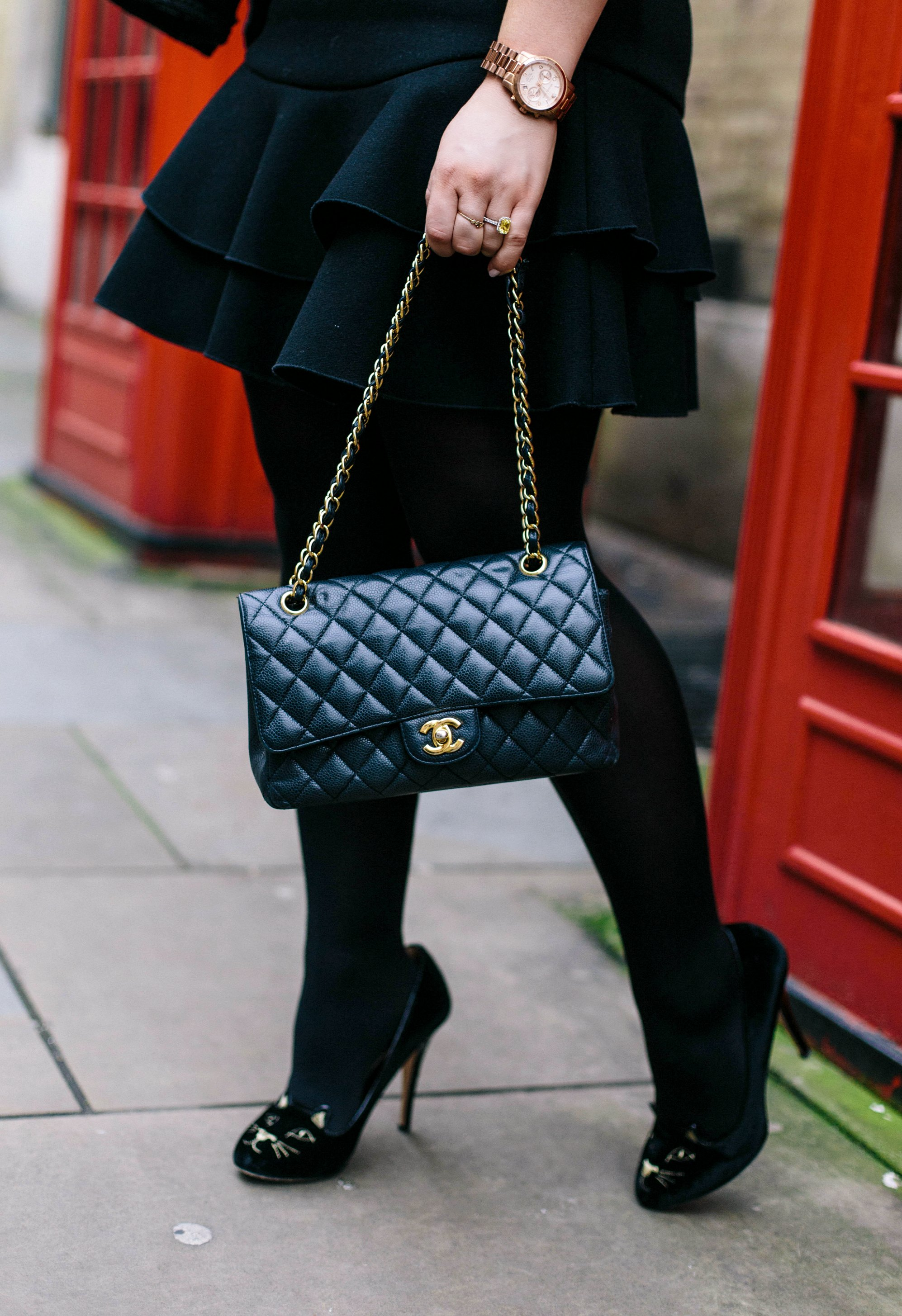 A Girl, A Style _ Charlotte Olympia Kitty Heels + Chanel Timeless Bag