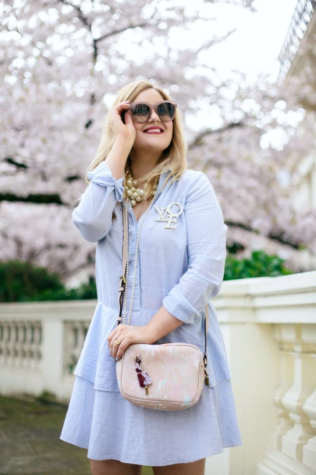 A Girl, A Style _ The Blue Shirt Dress