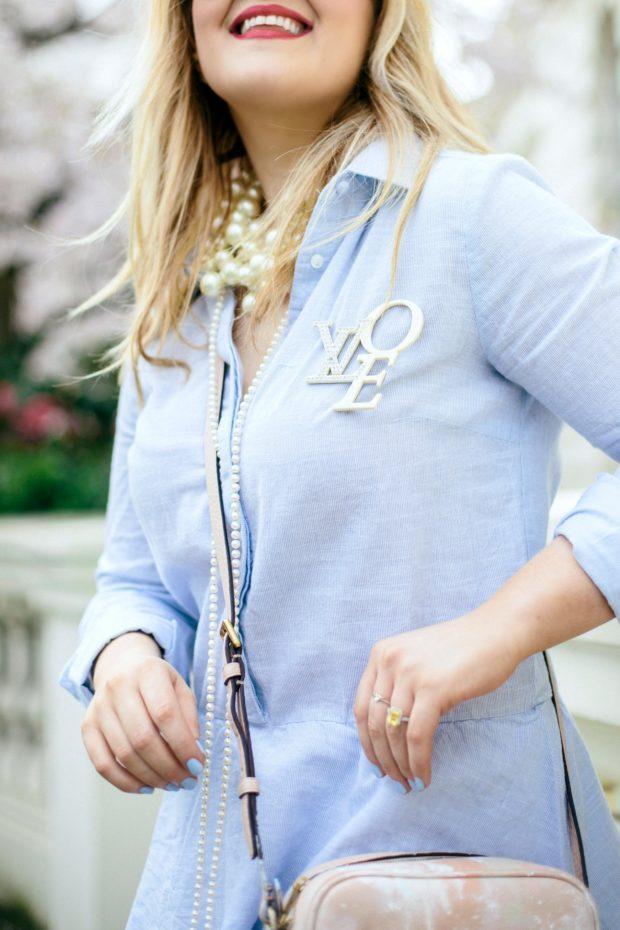 A Girl, A Style _ Vila Blue Shirtdress