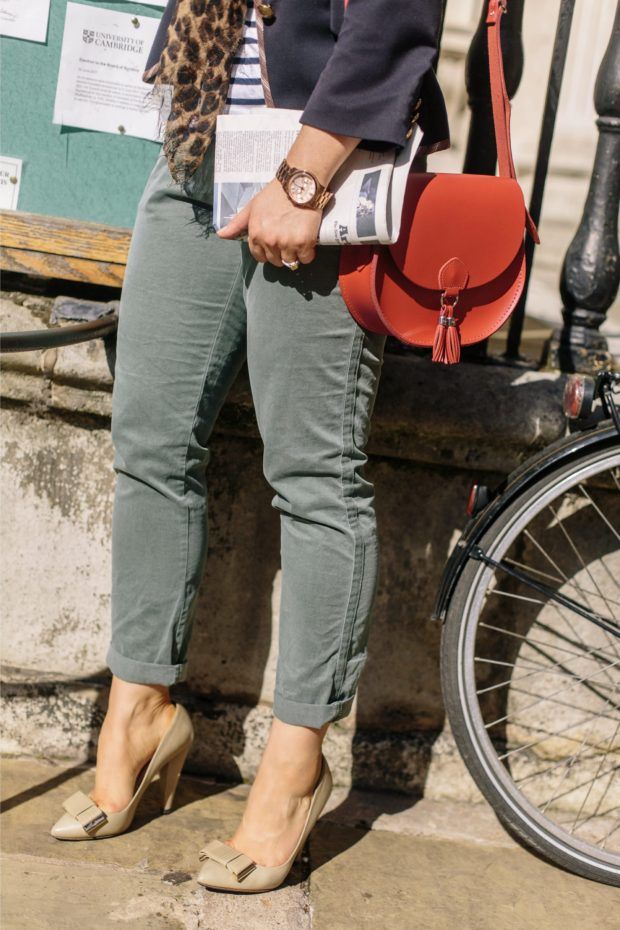 A Girl, A Style _ Gap Olive Chinos, Mulberry Shoes